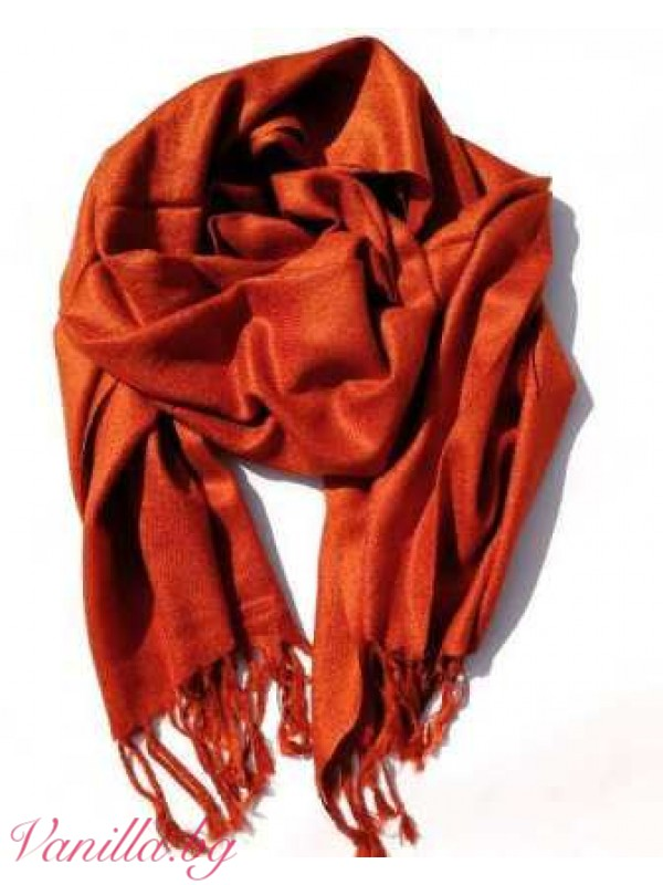 Семпъл дамски шал с ресни — различни цветове