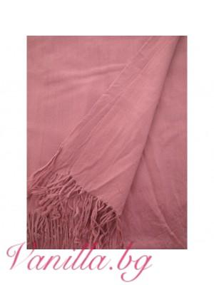 Семпъл дамски шал с ресни - различни цветове