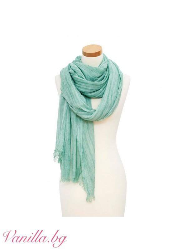 Дамски шал от вълна и памук