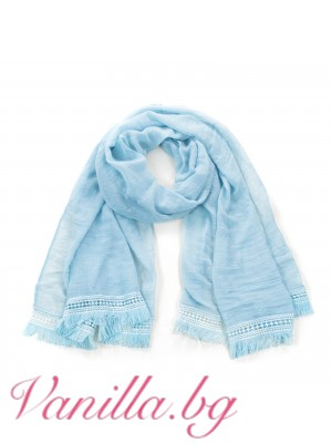 Ефирен дамски шал с ресни