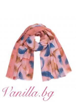 Розов дамски шал с перца