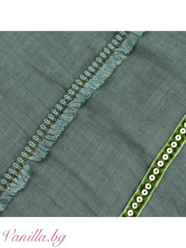 Шалове - Памучен шал с мъниста