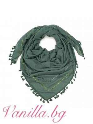 Дамски памучен шал с мъниста