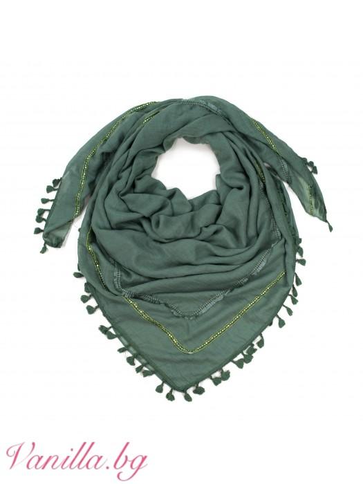 Памучен шал с мъниста