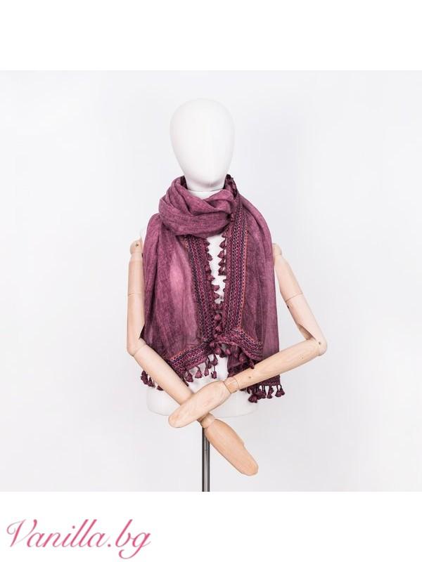 Лилав дамски шал