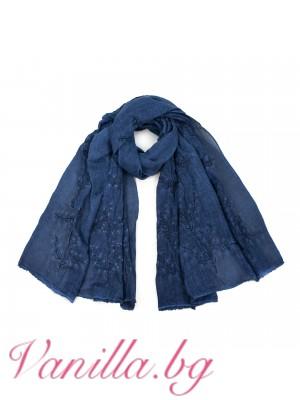 Ефирен дамски шал с бродерия