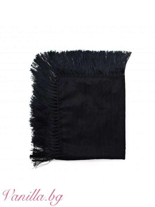 Елегантен шал с ресни
