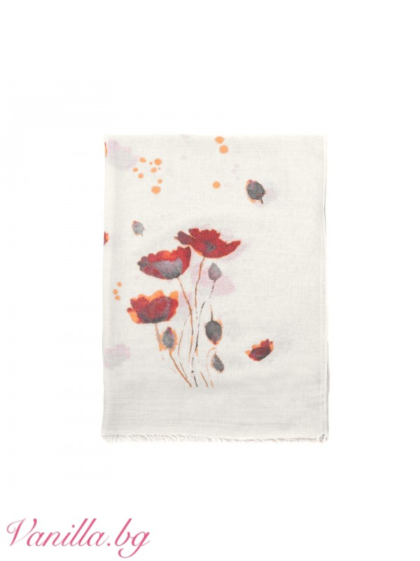 Пролетен шал с макове