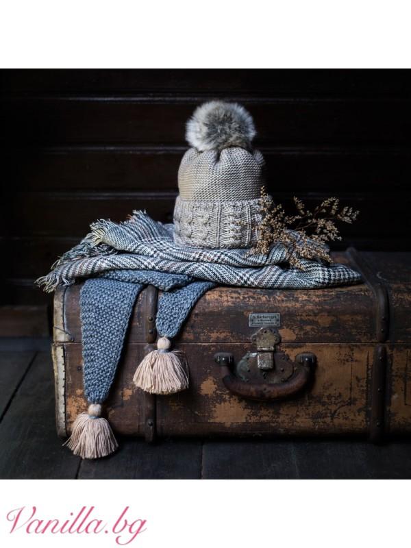 Луксозен зимен шал