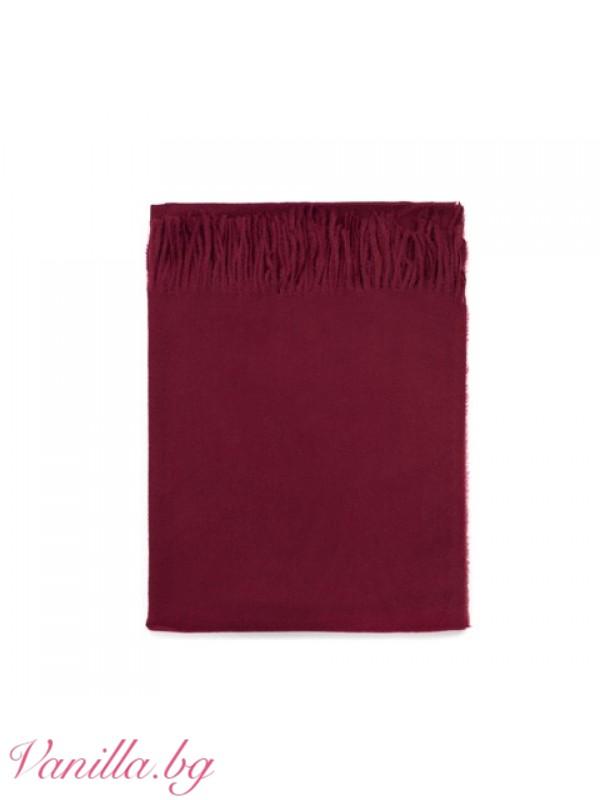 Мек дамски шал с ресни - различни цветове