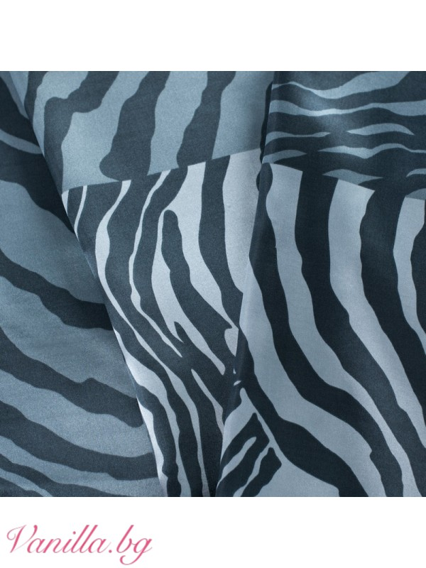 Сатенен шал в черно и сиво
