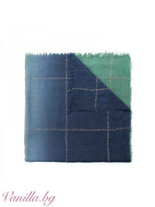Шалове - Шал в преливащи цветове - син