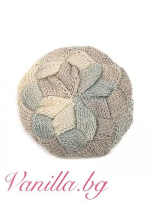 Плетена барета в преливащи се цветове