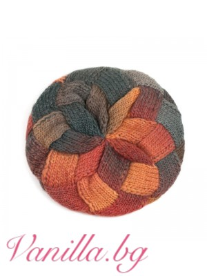 Плетена барета в топли есенни цветове