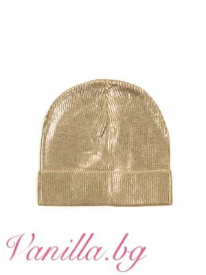 Дамска шапка в златисто
