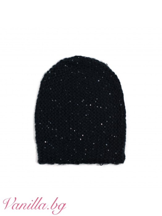 Дамска шапка с пайети
