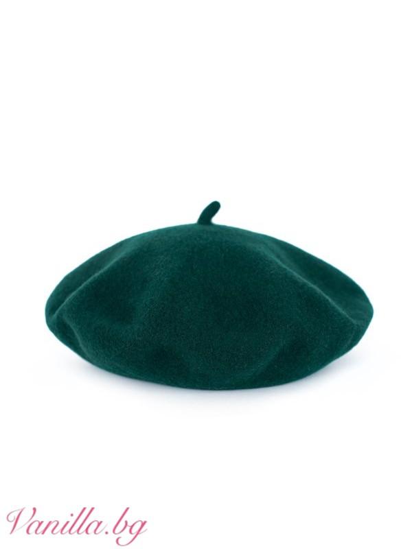 Тъмнозелена барета