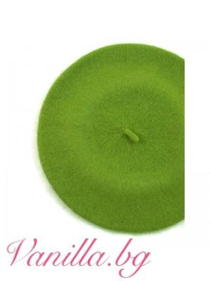 Барета в ябълково зелен цвят