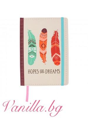 "Луксозен тефтер ""Hopes And Dreams""- формат А5"