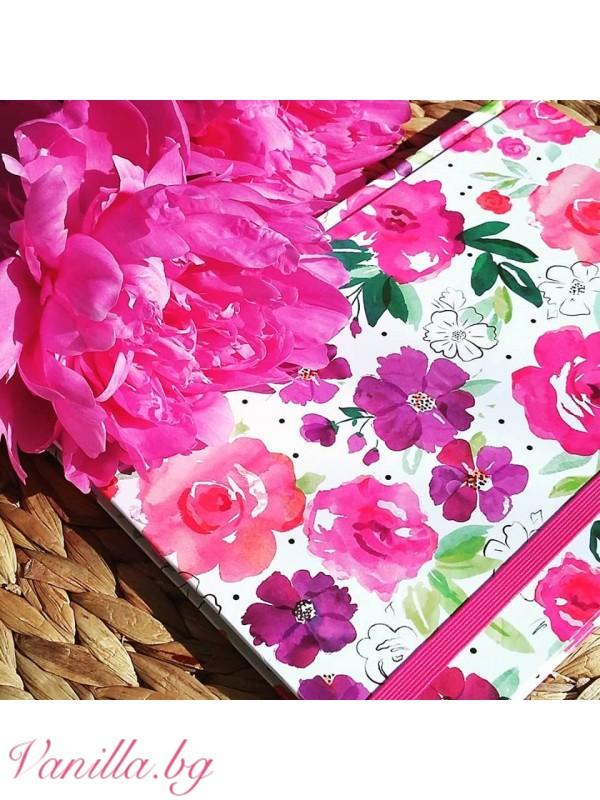 Офис аксесоари - Луксозен тефтер Floral Fusion - формат А5