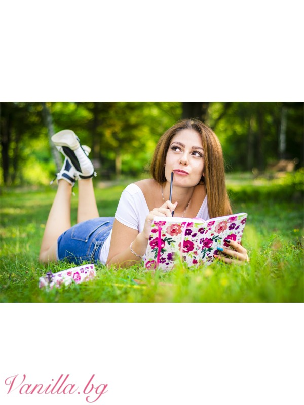 Луксозен тефтер Floral Fusion — формат А5 — Тефтери | vanilla.bg