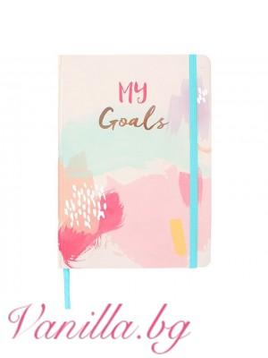 "Луксозен тефтер ""My Goals"" - формат А5"