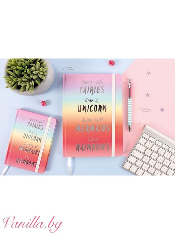 Офис аксесоари - Луксозен тефтер Rainbow - формат А5