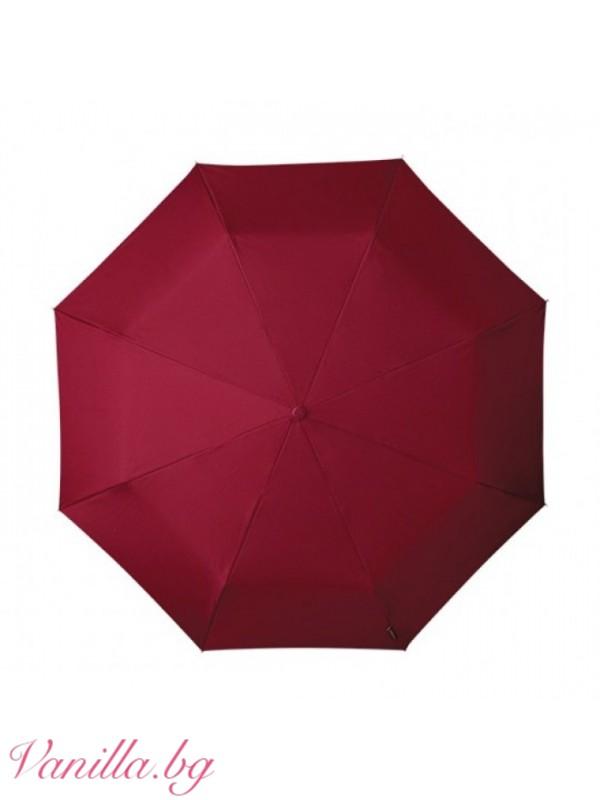Сгъваем чадър MiniMAX — бордо