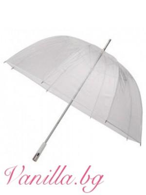 Голям прозрачен чадър - серия Делукс