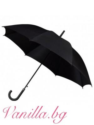 Унисекс чадър в черно