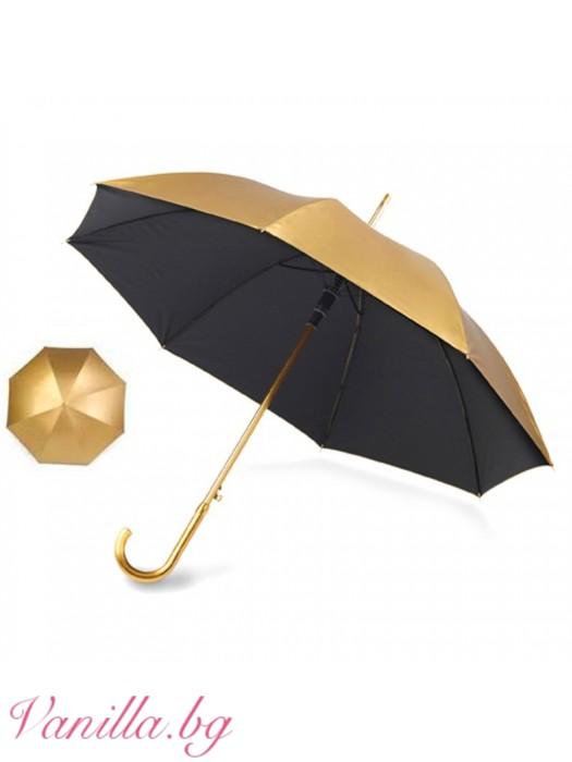 Дамски чадър Злато