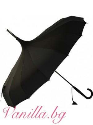 Чадър тип пагода - черен