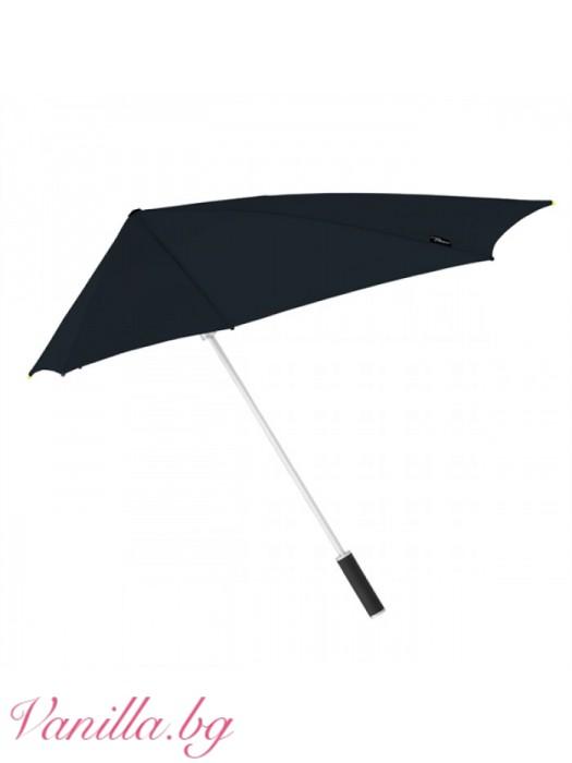 Супер ветроустойчив унисекс чадър Stormfighter Stealth