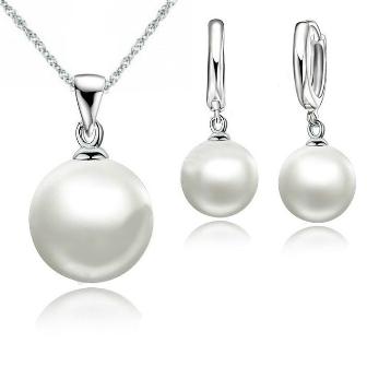 колие и обеци с перли
