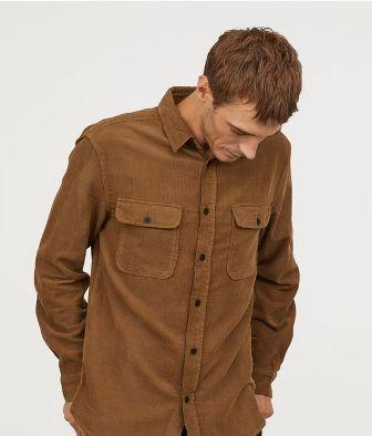 мъжка риза от рипсено кадифе