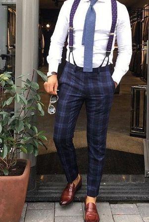 карирани панталони