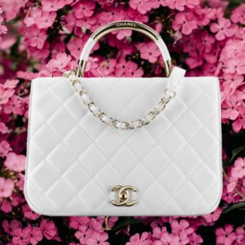 бяла чанта