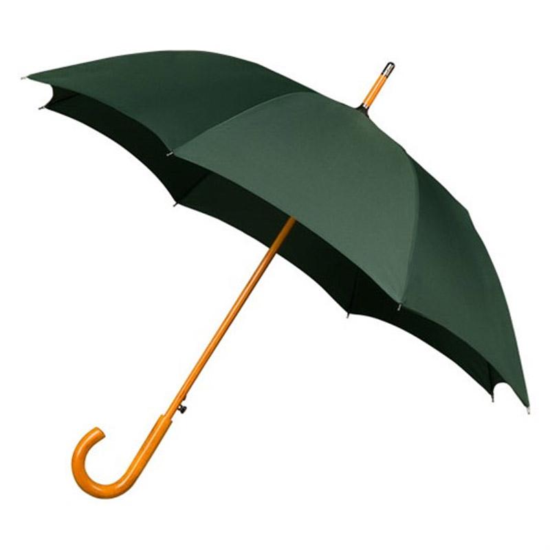 чадър в тъмно зелено