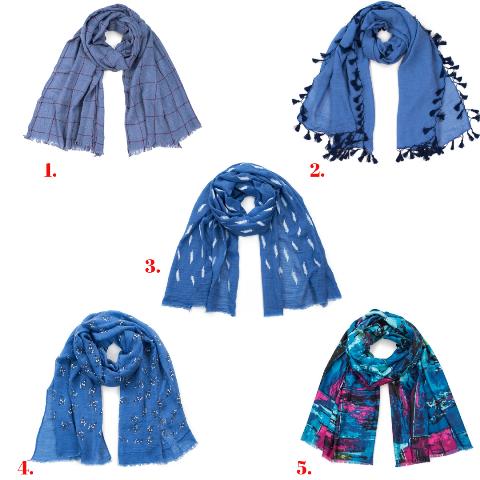сини шалове