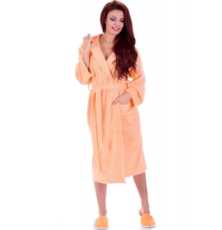дамски халат за баня - оранжев