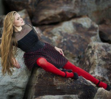 червен чорапогащник